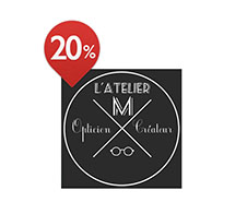 20% de réduction à Atelier M du Bouscat